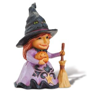 Pint Sized Friendly Witch Figurine by Jim Shore