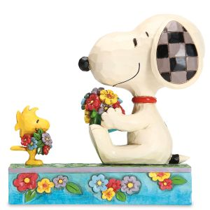 Jim Shore Snoopy & Woodstock Enjoy Spring Figurine