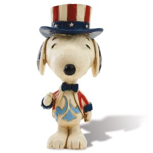 Jim Shore Patriotic Mini Snoopy™ Figurine