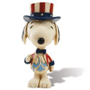 Jim Shore Patriotic Mini Snoopy™ Figurine