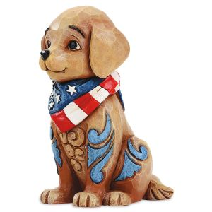 Jim Shore Patriotic Puppy Figurine