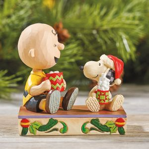 Jim Shore Charlie Brown & Snoopy™ with Hot Cocoa
