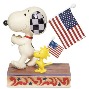 Jim Shore Snoopy & Woodstock Glory March Figurine