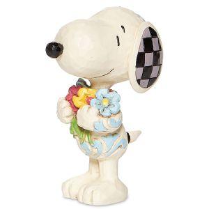 Jim Shore Mini Snoopy™ with Flowers Figurine