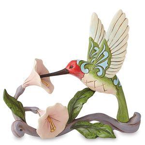 Jim Shore Hummingbird with Flowers