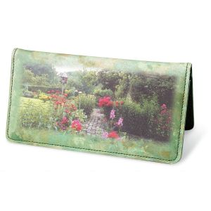 Gorgeous Gardens Premium Personal Checkbook Cover