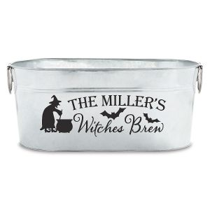 """Personalized """"Witches Brew"""" Tub"""