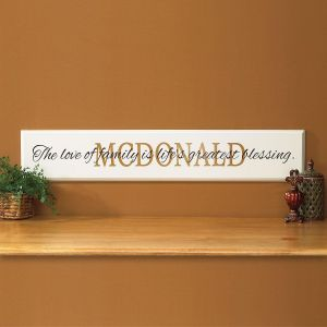 Family Personalized Wooden Plaque