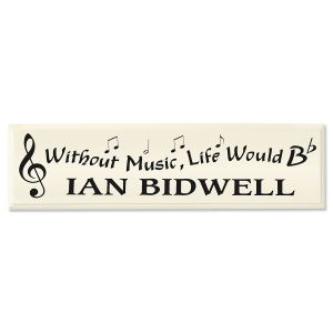 Without Music... Personalized Wooden Plaque