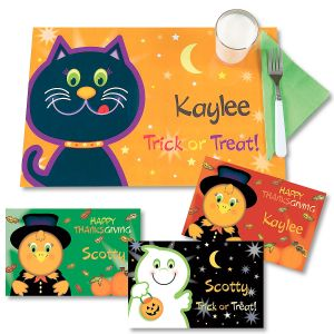 Personalized Reversible Fall Place Mats