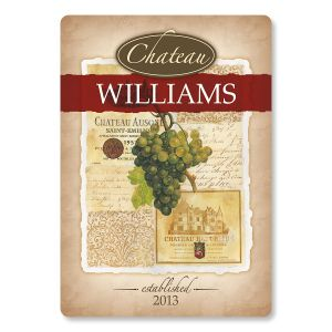 Wine Glass Personalized Custom Cutting Board