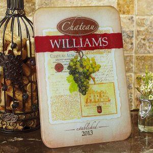 Wine Glass Personalized  Cutting Board
