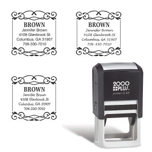 Border Square Address Stamp