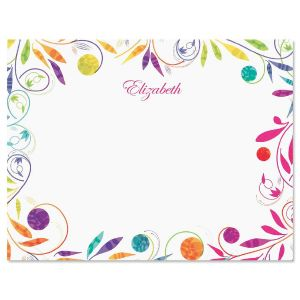 Color Swirl Correspondence Cards