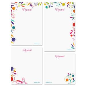 Color Swirl Memo Pad Set