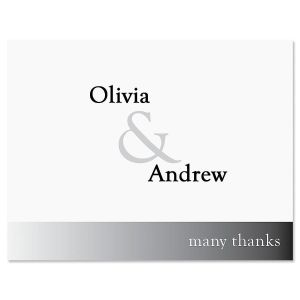 Ampersand Thank You Cards