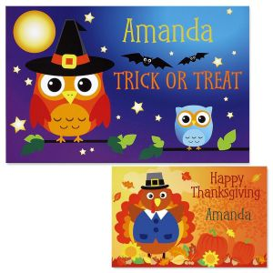 Owls Personalized Place Mats