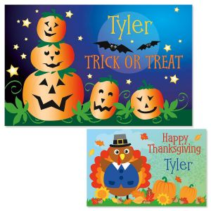 Jack-o'-Lanterns Personalized Place Mats
