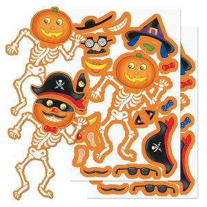 Build a Jack-o'-Lantern Sticker Sheets