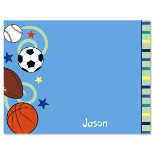 Sports Balls Note Cards