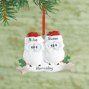 Owl Family Custom Christmas Ornaments