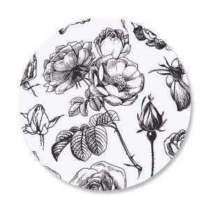 Black and White Rose Envelope Seals