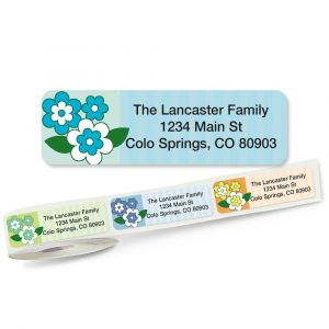 Flower Frenzy Rolled Address Labels  (5 Designs)