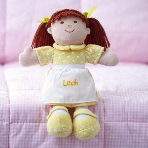 Brunette Cuddly, Soft Personalized Doll