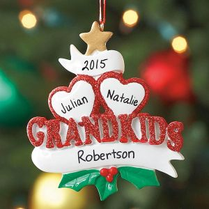 Grandkids Personalized Christmas Ornaments