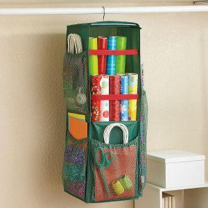 Spinning Gift-Wrap Organizer
