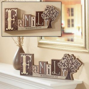 Family Personalized Word Block