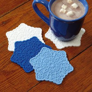Snowflake Shaped Silicone Coasters