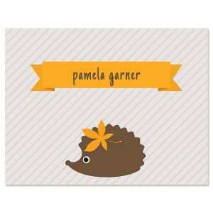 Hedgehog Personalized Note Cards