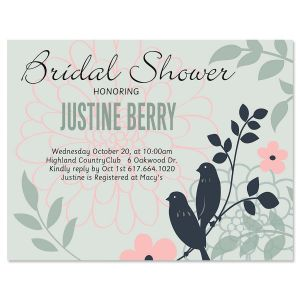 Love Birds Personalized Invitation