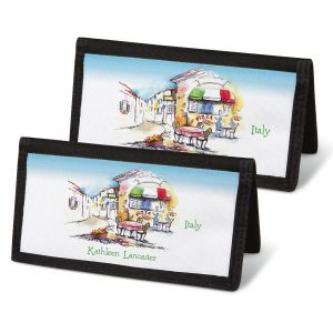 Tranquil Europe Personal Checkbook Covers