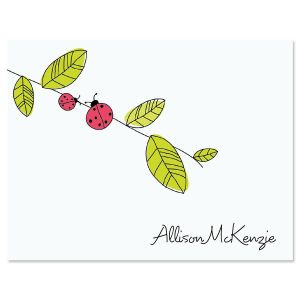 Ladybug Personsonalized Note Cards