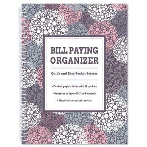 Gray Bursts Bill Paying Organizer