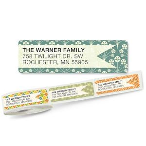 Blossom Banner Rolled Return Address Labels  (5 Designs)