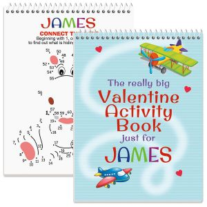 Really Big Personalized Valentine Activity Book