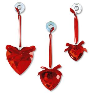 Acrylic Heart Suncatchers