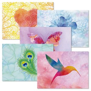 Bright Watercolor Note Cards
