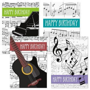 Music-Theme Birthday Cards