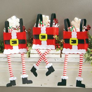 Dangling Legs Santa Treat Bags