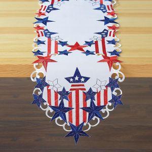 Patriotic Diecut Table Runner