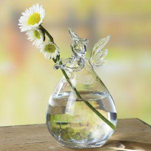 Glass Angel Vase