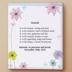 Floral Name Poem Canvas Print