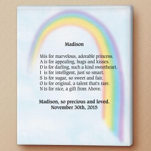 Rainbow Name Poem Canvas Print