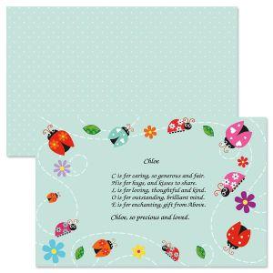 Ladybugs Name Poem Placemat