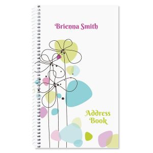 Sketched Flowers Personalized Lifetime Address Book
