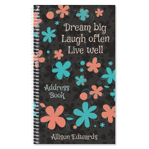 sentiment garden lifetime address book 72 page soft cover telephone
